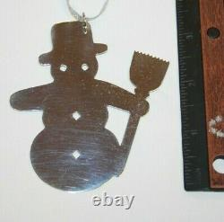 Sterling Silver James Avery Snow Man Christmas Ornament 120GAT