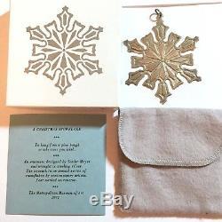 Sterling Silver MMA 1977 Metropolitan Museum Art Snowflake Xmas Ornament Box