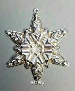 Sterling Silver Ornament First Gorham Snowflake Christmas 1970 Vintage Annual