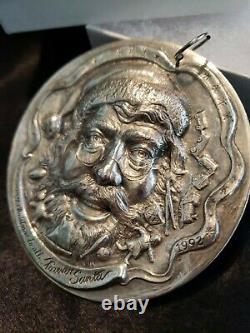 Sterling silver Christmas Ornament Forever Santa Sculpture Workshop