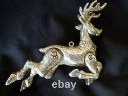 Sterling silver Christmas Ornament Neiman Marcus Reindeer Extremely rare