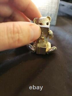 Sterling silver Christmas Ornament harry smith bear rare