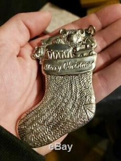 Sterling silver Christmas ornament stocking American heritage collection