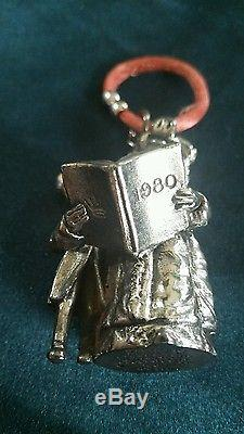 Sterling silver christmas ornament kermit & miss piggy very rare