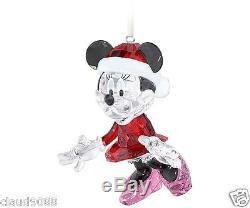 Swarovski Silver Crystal Disney Minnie Mouse Christmas Ornament 2013 5004687 Mib