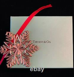 TIFFANY & CO. Large Sterling Silver 925 Snowflake Christmas Ornament with Box