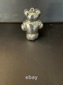 TIFFANY & CO. STERLING SILVER BEAR 24 g (0.9 oz)CHRISTMAS ORNAMENT 3 HIGH 1990