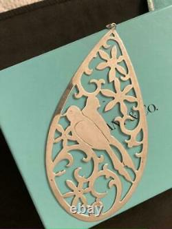 TIFFANY & CO Sterling Silver Christmas Ornament Two Turtle Doves RARE