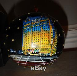 The Plaza Hotel New York City Night Scene Christmas ornament New with tags Rare