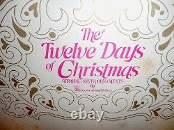 The Twelve Days Of Christmas Sterling Silver Ornaments 1972 Complete Set Rare