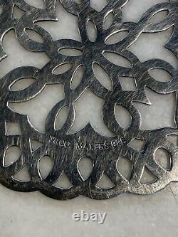 Tiffany & Co. 3 Heart Snowflake Ornament Sterling Silver Christmas 1997 EUC