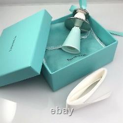 Tiffany & Co Angel Ornament Silver Blue Bone China Christmas Tree Holiday