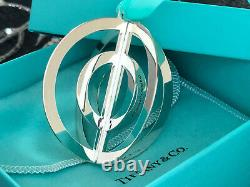 Tiffany & Co Round 3D Sterling Silver Christmas Tree Ornament