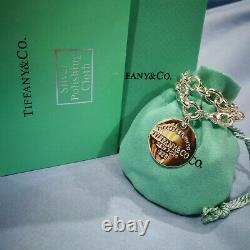 Tiffany & Co. Round Label Bracelet Cute Bracelet 925 Sterling Silver