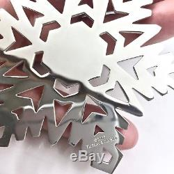 Tiffany & Co Silver Large Snowflake Wreath Holiday Christmas Ornament 3x3 48 gr