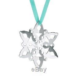 Tiffany & Co Snowflake Christmas Ornament Tiffany Blue Ribbon Sterling Silver