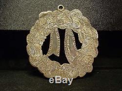 Tiffany & Co. Sterling Silver 925 Wreath & Bow Heavy Tree Ornament! C. 1996