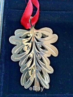 Tiffany & Co Sterling Silver Christmas Ornament Mistletoe