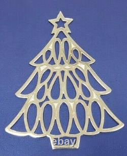 Tiffany & Co. Sterling Silver Christmas Tree Holiday Ornament Large Over 3