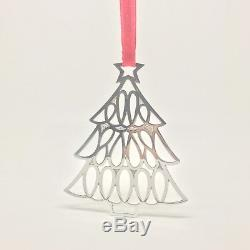 Tiffany & Co Sterling Silver Christmas Tree Star Ornament 1998 Pouch Gift Ready