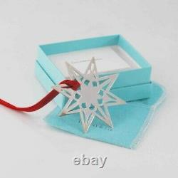 Tiffany & Co. Sterling Silver Filigree Star Christmas Ornament