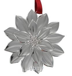 Tiffany & Co. Sterling Silver Rare Vintage Poinsettia Christmas Ornament