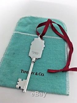 Tiffany & Co Sterling Silver Santa Claus Teddy Bear Key Ornament Christmas
