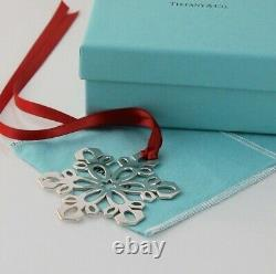 Tiffany & Co. Sterling Silver Snowflake Christmas Ornament