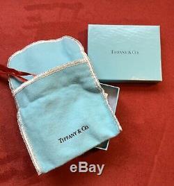 Tiffany & Co Sterling Silver Snowflake Christmas Ornament 25987 Original Box VH