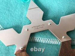 Tiffany & Co. Sterling Silver Walnut Snowflake Ornament NIB