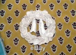 Tiffany & Co. Sterling Silver Wreath Christmas Ornament