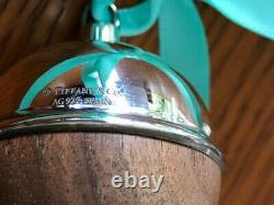 Tiffany & Co Sterling Silver with American Walnut Christmas BALL ornament GIFT