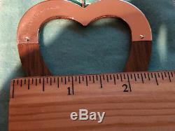 Tiffany & Co Sterling Silver with American Walnut Christmas HEART ornament GIFT