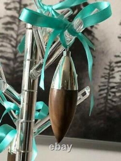 Tiffany & Co Sterling Silver with American Walnut Christmas icicle ornament GIFT