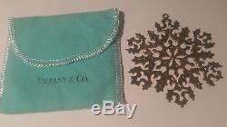 Tiffany & Company Sterling Silver Snowflake Christmas ornament