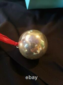 Tiffany Sterling Silver Christmas Ornament Ball Extremely Rare Please Read
