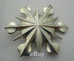 Tiffany Sterling Silver Snow Flake Christmas Tree Ornament