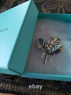Tiffany Sterling silver Christmas Ornament Holly Berry Broach
