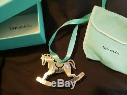 Tiffany Sterling silver Christmas Ornament Rocking Horse
