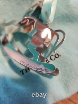 Tiffany Sterling silver Christmas Ornament Rocking Horse Rare