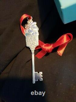 Tiffany Sterling silver Christmas Ornament Santas Key Rare