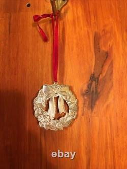 Tiffany and Co. Sterling Silver Wreath Christmas Ornament 1998
