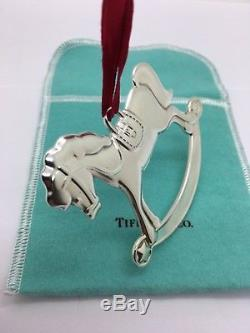 Tiffany & co. Sterling silver rocking horse Christmas ornament