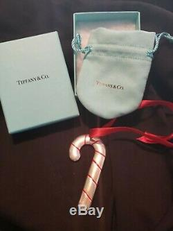 Tiffany sterling Silver Christmas Ornament Candy Cane