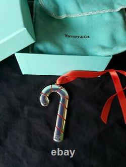 Tiffany sterling Silver Christmas Ornament Candy Cane Extremely Rare