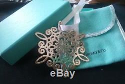 Tiffany sterling silver snowflake Christmas ornament