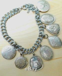 Towle 12 Days of Christmas Sterling Silver Ornament Charm Bracelet 1971-1982