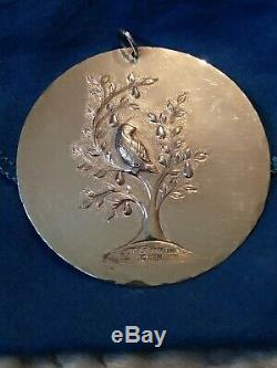 Towle 1971 12 Days Christmas Partridge in a Pear Tree Sterling Silver Ornament