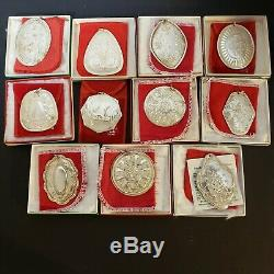 Towle Medallion Sterling Silver Set 11/ Of 12 Days of Christmas Ornaments READ