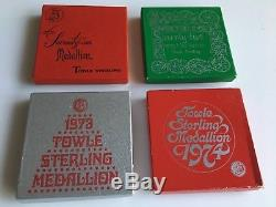Towle Sterling Silver 12 Days Christmas Complete Ornament Set 19711982